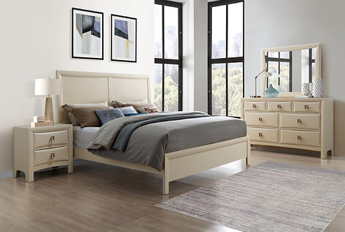 Lucas Almond Cream Bedroom Set by Global Furniture