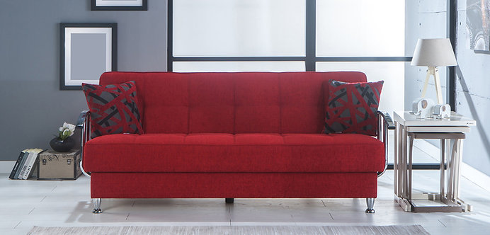 Betsy Red Sofa Bed (ISTIKBAL)