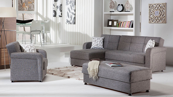 Vision Diego Gray Sectional Sofa by Sunset