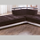 Thumbnail: NATURAL COLINS BROWN SECTIONAL SOFA