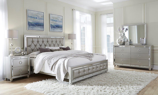 Riley Silver Bedroom Set by Global Furniture