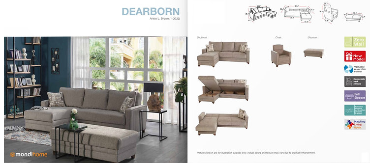 DEARBORN ARISTO L. BROWN SECTIONAL