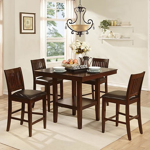 Galena 5-Piece Counter Height Dinette by Homelegance