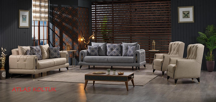 ATLAS 2 SOFA + 2 CHAIR LIVING ROOM