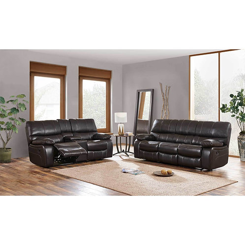 U0040 Agnes Espresso Leather Gel Reclining