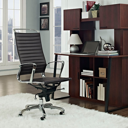 Tempo Highback Office Chair Brown by Modway