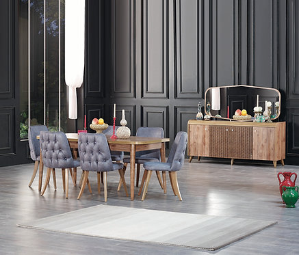 RUSTIK BROWN DINING SET