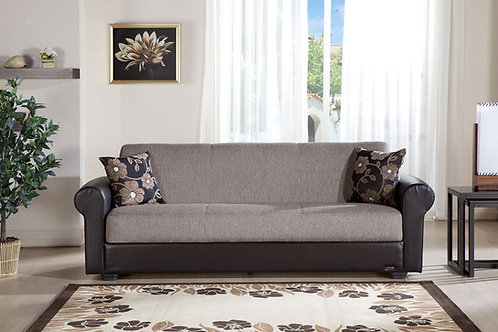 Enea Redeyef Brown Convertible Sofa Bed by Sunset
