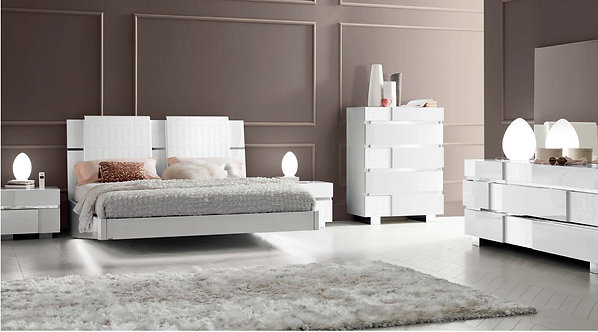 Status Caprice White Bedroom Set by ESF