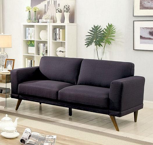 Janie Black Linen Sofa