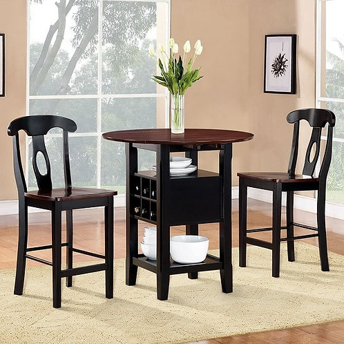 Atwood 3-Piece Counter Height Dinette Set by Homelegance