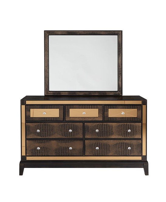Mirror Chocolate Dresser by Global Furniture