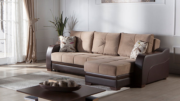 Ultra Lilyum Vizon Sectional Sofa by Sunset
