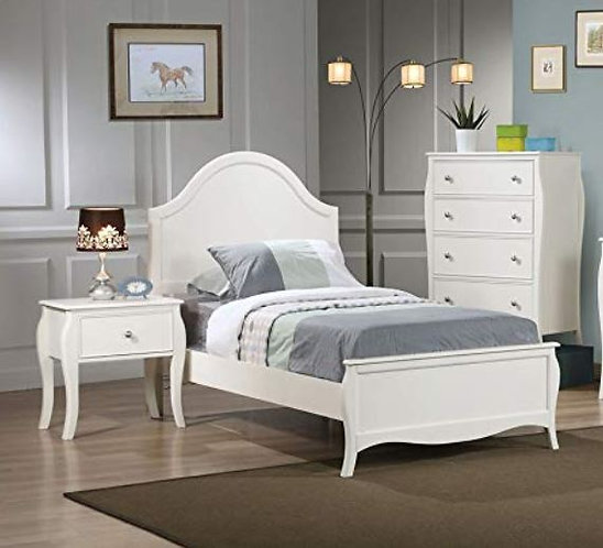DOMINIQUE FULL YOUTH PANEL BED AND NIGHTSTAND