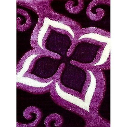 Gloria Shaggy 1008 Purple Area Rug (8' x 10') by Bekmez