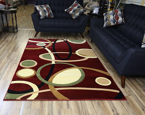 8654 Rosa Red Area Rug by Bekmez