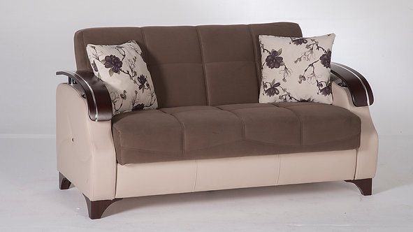Trento Selen Brown Loveseat by Sunset (ISTIKBAL)