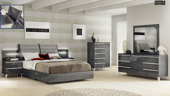 Elite Grey Birch Status Bedroom Set by ESF