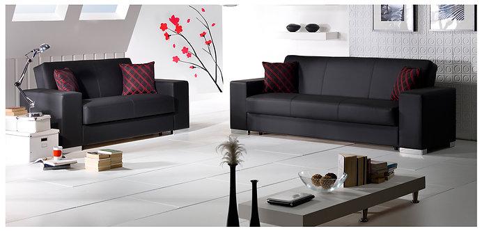 Kobe Santa Glory Black Sofa, Love & Chair Set by Sunset ( ISTIKBAL )