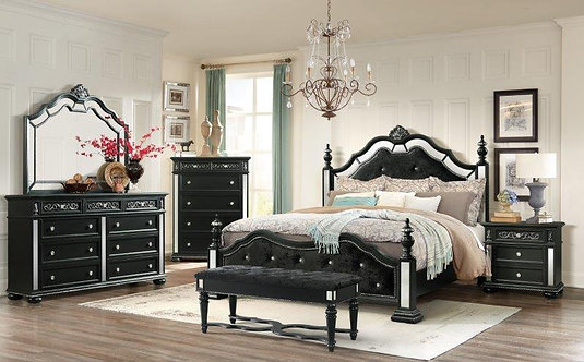DIANA BLK BEDROOM SET