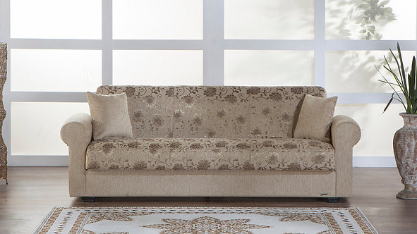 Elita S Yasemin Beige Convertible Sofa Bed by Sunset