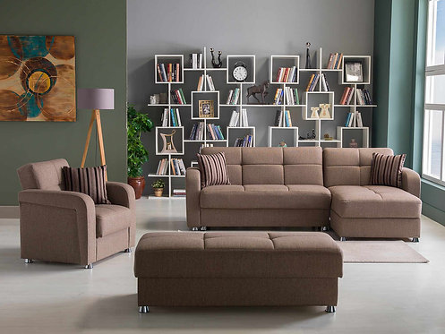 Vision Redeyef Brown Sectional Sofa by Sunset