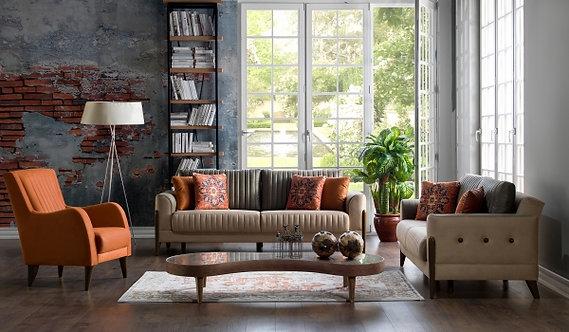 Piero Hande Beige Living Room (ISTIKBAL)
