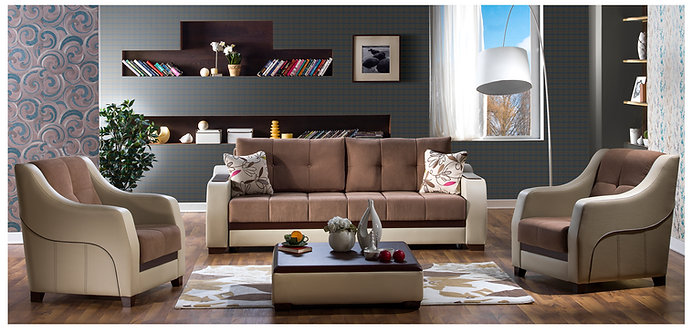 Ultra Optimum Brown Sofa ( ISTIKBAL )