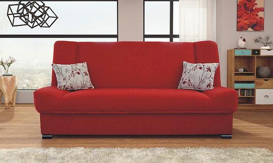 Natalia Red Sofa by Skyler Designs