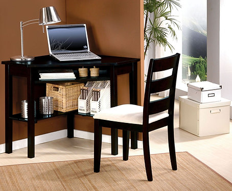 Naco Sandy Black Corner Desk with Chair by ACME