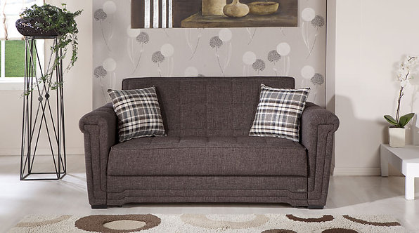 Victoria Andre Dark Brown Loveseat Sleeper by Sunset (ISTIKBAL)