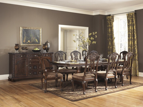 Delightful North Shore Dining Table Dark Brown By Ashley Furniture