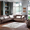Thumbnail: NATURAL PRESTIGE BROWN SECTIONAL SOFA