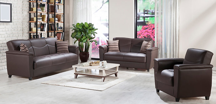 Aspen Santa Glory Dark Brown Living Room (ISTIKBAL)