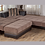 Thumbnail: MOON TROYA BROWN SECTIONAL SOFA