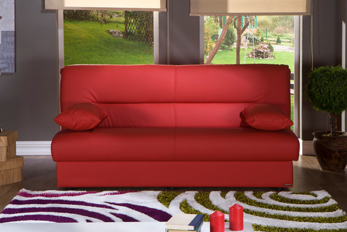 Regata Escudo Red Convertible Sofa Bed by Sunset