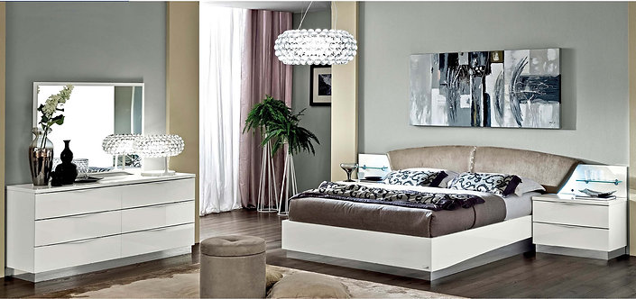 Onda White Camel Bedroom Set by ESF