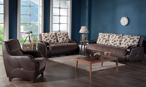 Costa Armoni Brown Sofabed, Loveseat, Chair (ISTIKBAL)