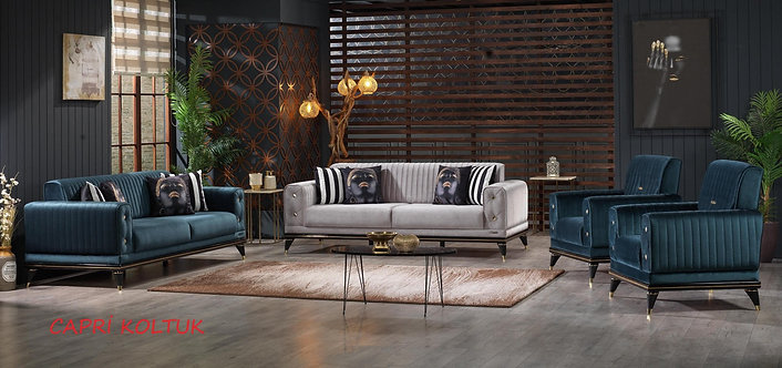 CAPRI 2 SOFA + 2 CHAIR LIVING ROOM