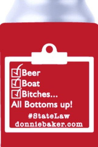 Bottoms Up Can Koozie