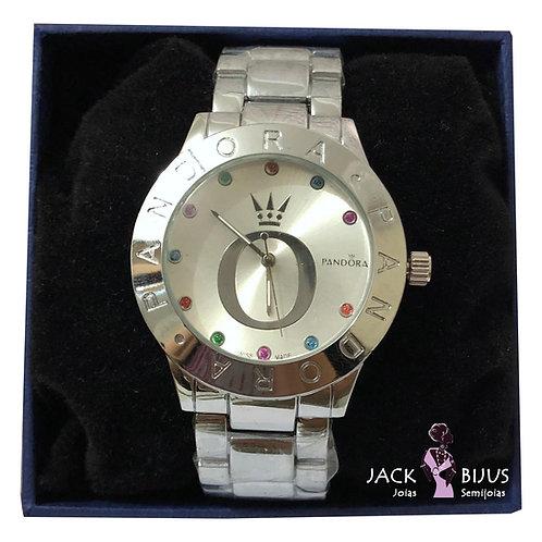 Relógio Inspired Pandora Prata