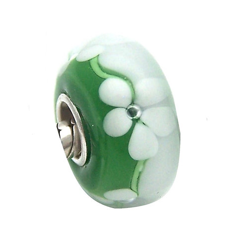 Murano Floral Verde