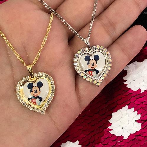 Colar Mickey - Semijoia Banhada