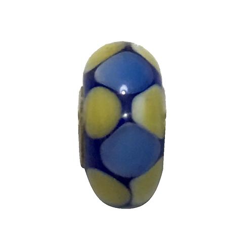 Murano Azul Com Bolinhas - Prata 925