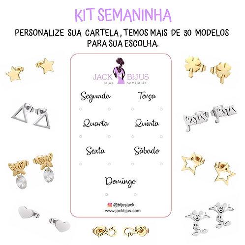 Kit Semaninha Personalizado - Aço Inoxidável