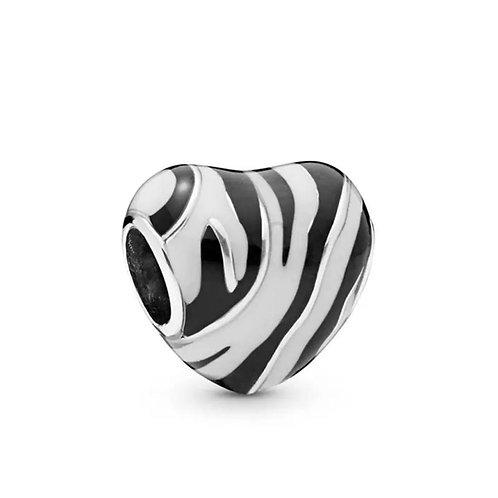 Berloque Rei leão - Coração Zebra