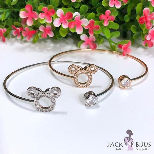 Bracelete Minnie Zirconias - Banhado