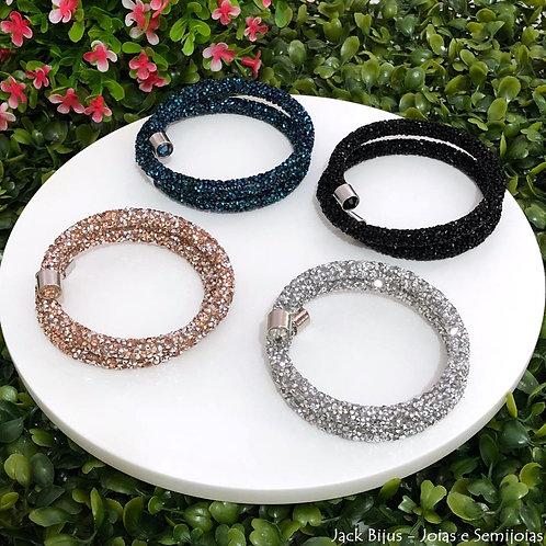 Bracelete InspiredSwarovski Crystaldust 2 Voltas