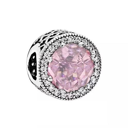 Berloque Radiante Rosa - Prata 925