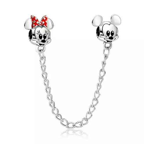 Corrente de Segurança Mickey - Banhada a Prata